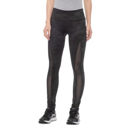 e85aa42057 90 DEGREE Camo Olive Mesh Leggings (For Women) in Camo Olive