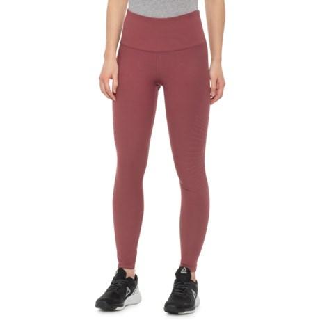 9ef1cecd15a0ba 90 DEGREE Cherry Truffle Horizontal Lines High-Waist Ankle Leggings (For  Women) in
