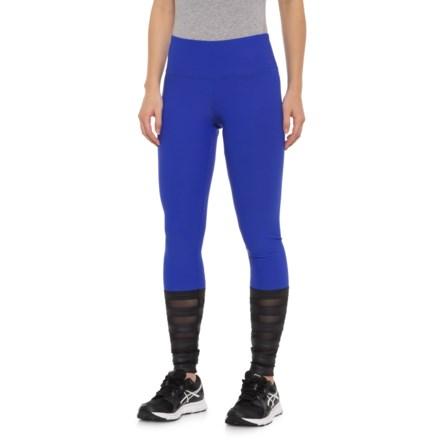 d72991bf1454a 90 DEGREE Cire Strip Leggings (For Women) in Royal Blue/Black/Black