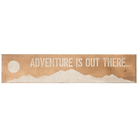 Image of ?Adventure Is Out There? Mountain Wooden Sign - 10x44?