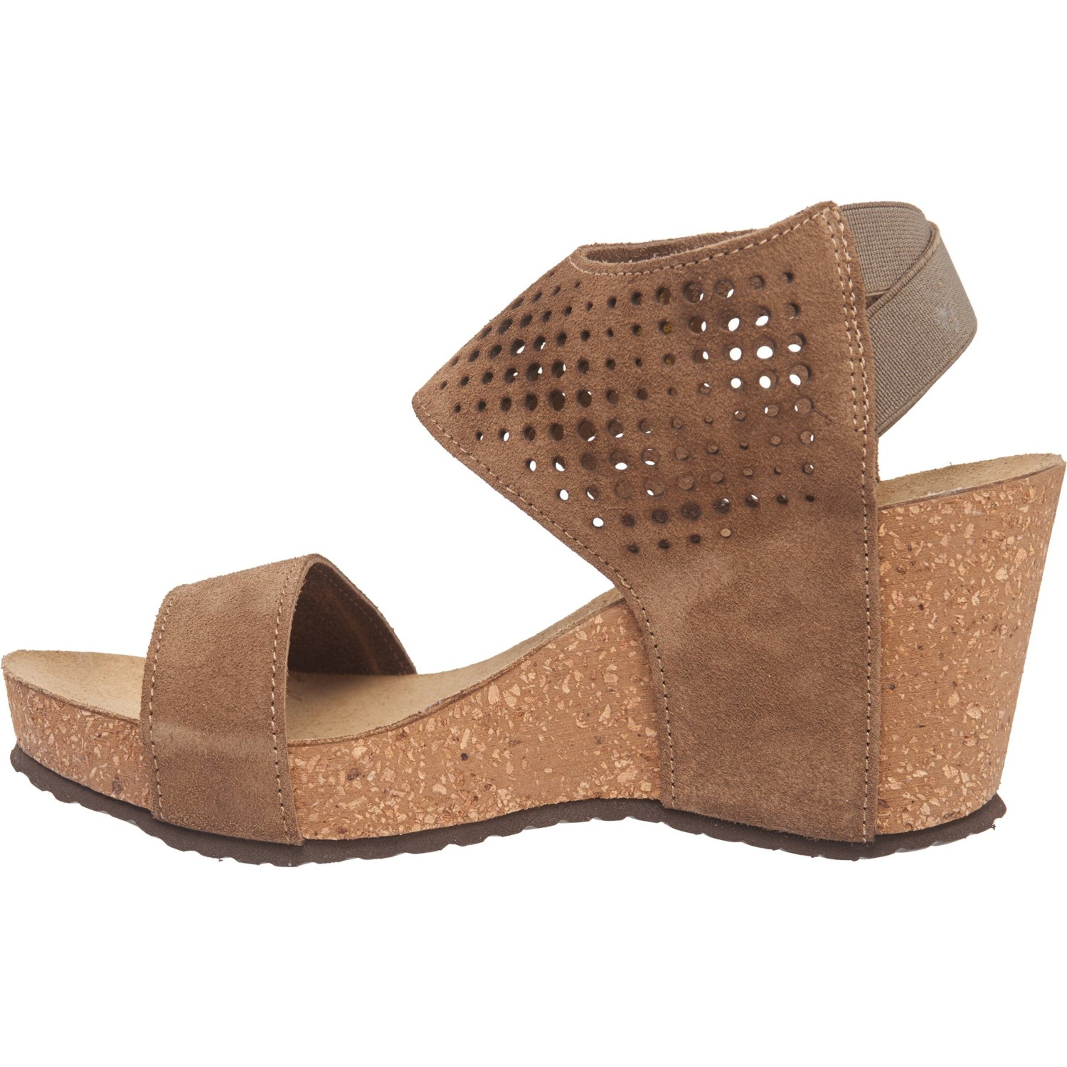 9676d954228f A. GIANNETTI Made in Italy Laser Ankle Wedge Sandals - Suede (For Women)