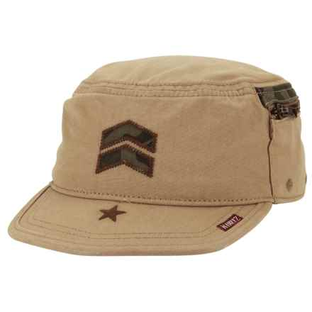 A. Kurtz Camo Detail Fritz Military Hat - (For Men) in Khaki - Closeouts