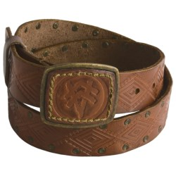 A. Kurtz Kurt Leather Belt (For Men) in Camel