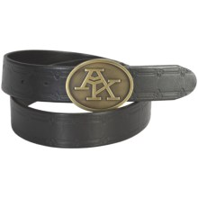 A. Kurtz Sawyer Leather Belt (For Men) in Black - Closeouts