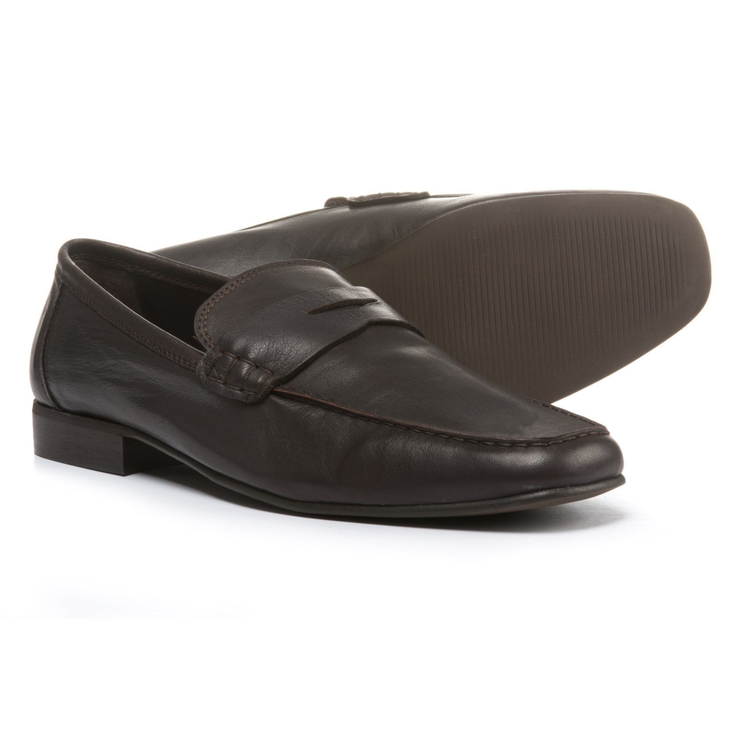 A. Testoni Diffusion Leather Loafers (For Men)