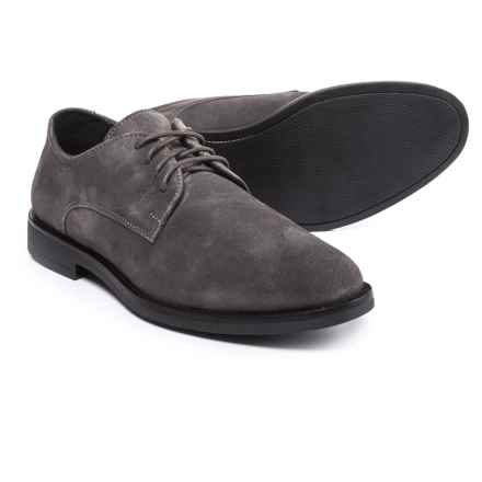 A. Testoni Made in Italy Diffusion Oxford Shoes - Suede (For Men) in Grey - Closeouts