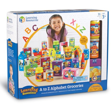 Image of A to Z Alphabet Groceries Game