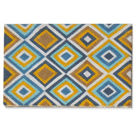 """A1 Home First Impression Valesca Coir Doormat - 24x36"""" in Diamond Geometric"""