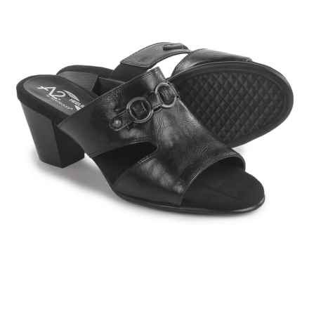 A2 by Aerosoles Base Board Slide Sandals (For Women) in Black - Closeouts