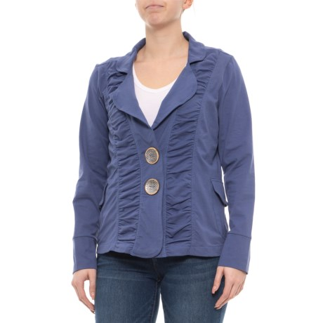 Image of Abbotsford Blue Morgan Ruched Jacket (For Women)
