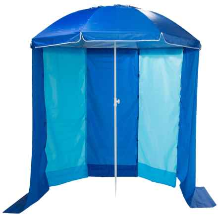 ABO Gear 2-in-1 Beach Umbrella Cabana in See Photo - Closeouts