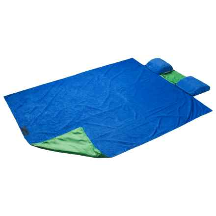ABO Gear Beach Hugger Beach Blanket - Oversized, 7x5' in Blue - Closeouts