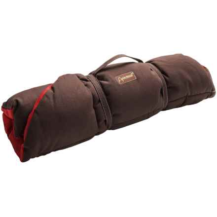 "ABO Gear Eco Cotton Canvas Dog Bed - 40x27"" in Red/Chocolate - Closeouts"