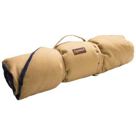 "ABO Gear Eco Cotton Canvas Dog Bed - 40x27"" in Tan/Navy - Closeouts"