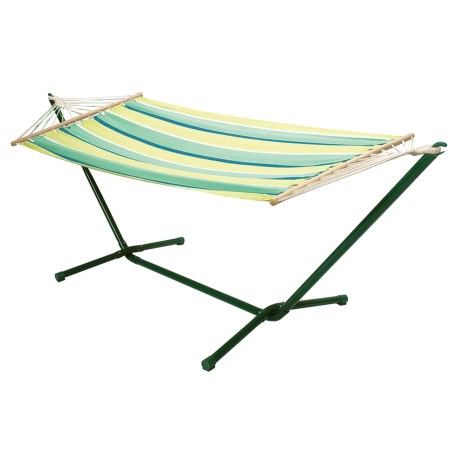 ABO Gear Oolaroo Portable Hammock with Stand in Green Stripe