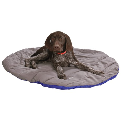 ABO Gear Travel Pet Bed - Round in Blue/Grey