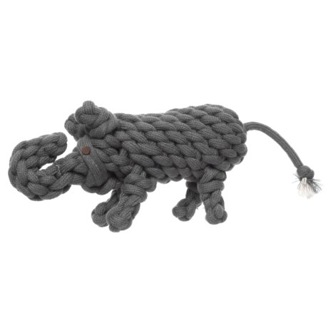 ABO Gear Wooly Rope Elephant Dog Toy in Grey