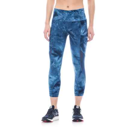 ABS Allen Schwartz ABS by Allen Schwartz Cropped Printed Leggings (For Women) in Light Blue - Closeouts