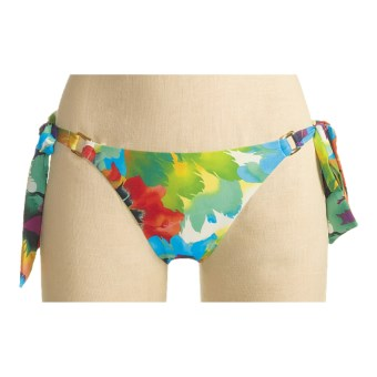 A.B.S. Allen Schwartz Contemporary Plumes Bikini Swimsuit Bottoms - Side Tie (For Women) in Multi