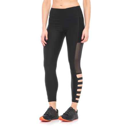 ABS Allen Schwartz Mesh and Lattice Leggings (For Women) in Black - Closeouts