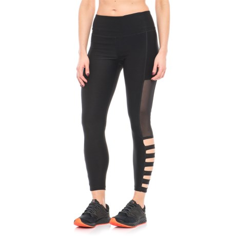 ABS Allen Schwartz Mesh and Lattice Leggings (For Women) in Black