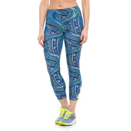 ABS Allen Schwartz Paisley Capri Leggings (For Women) in Turquoise - Closeouts