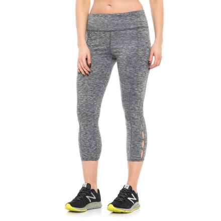 ABS Allen Schwartz Space-Dye Cutout Capri Leggings (For Women) in Heather Grey - Closeouts