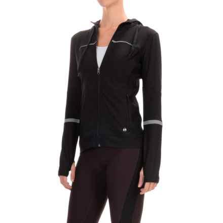 ABS by Allen Schwartz Motto Hooded Jacket - Full Zip (For Women) in Black - Closeouts