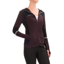 ABS by Allen Schwartz Motto Hooded Jacket - Full Zip (For Women) in Burgundy - Closeouts
