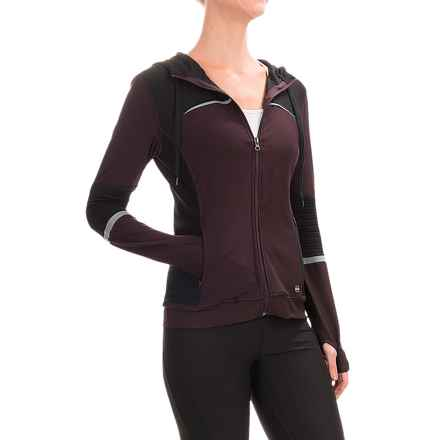 ABS by Allen Schwartz Motto Hooded Jacket - Full Zip (For Women) in Burgundy - Closeouts