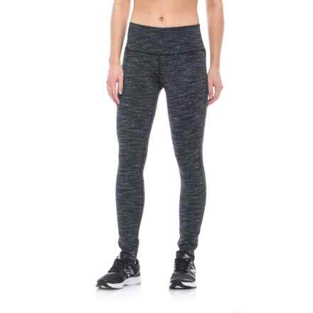 ABS by Allen Schwartz Reversible Space-Dyed Leggings (For Women) in Black Combo - Closeouts