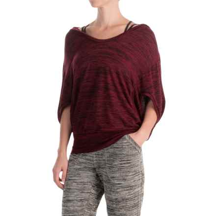 ABS by Allen Schwartz Space-Dyed Hoodie - Dolman Sleeve (For Women) in Burgundy - Closeouts