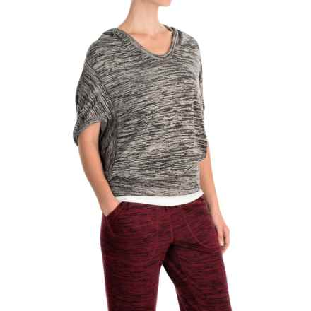 ABS by Allen Schwartz Space-Dyed Hoodie - Dolman Sleeve (For Women) in Charcoal - Closeouts