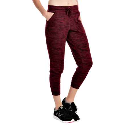 ABS Collection Space-Dye Joggers (For Women) in Burgundy - Closeouts