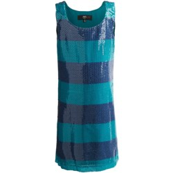 ABS Jenny Sequin Dress - Sleeveless (For Girls) in Teal/Purple