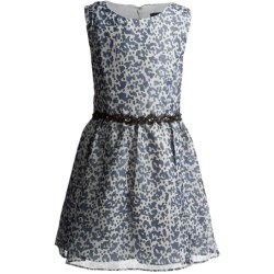 ABS Marlena Chiffon Dress - Sleeveless (For Girls) in Silver Print