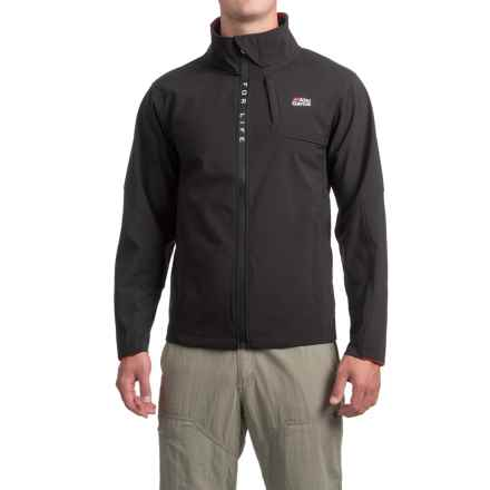 Abu Garcia Elite Performance Soft Shell Jacket (For Men in Black - Closeouts