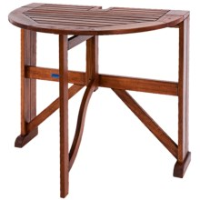 "Acacia Wood Half-Round Gateleg Table - 36"" in See Photo - Closeouts"