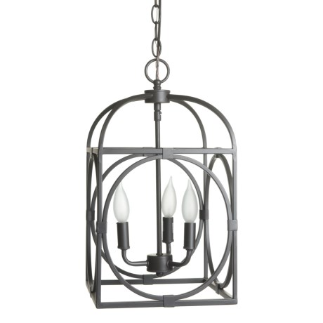 Image of Academy Three Light Antique Cage Chandelier - 10?