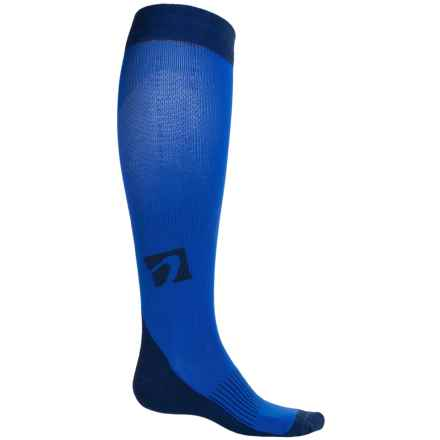 Acel Compression Socks - Over the Calf (For Men and Women) in Blue - Closeouts