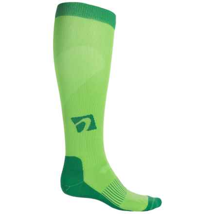 Acel Compression Socks - Over the Calf (For Men and Women) in Green - Closeouts