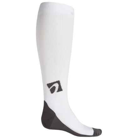 ACEL Compression Socks - Over the Calf (For Men and Women) in White - Closeouts
