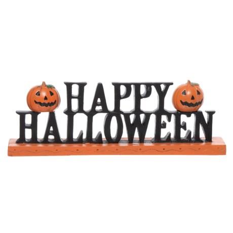 "Acorn & Oak Resin ""Happy Halloween"" Pumpkin Sign - 5.25x16"" - Save 63%"