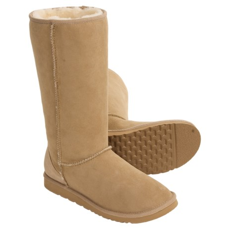 Acorn Aussie Origin Tall Sheepskin Boots (For Women) in Cane