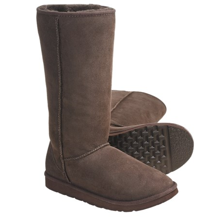 Acorn Aussie Origin Tall Sheepskin Boots (For Women) in Chocolate