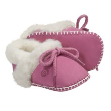 Acorn Baby Ewey Moc Slippers - Sheepskin-Wool (For Toddlers) in Bubble Gum - Closeouts