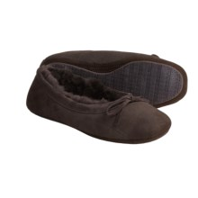 Acorn Ballet Sheepskin Slippers (For Women) in Chocolate - Closeouts