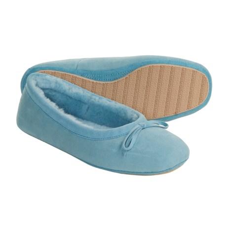 Acorn Ballet Sheepskin Slippers (For Women) in Karma Blue