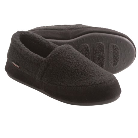 Acorn Berber Tex Moccasin Slippers (For Women) in Black