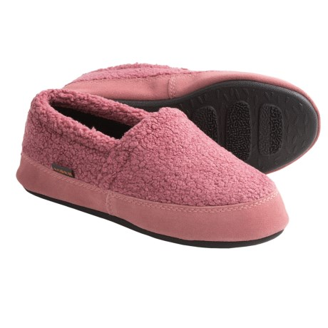 Acorn Berber Tex Moccasin Slippers (For Women) in Rose